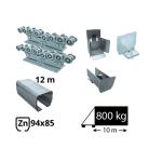 Kit Sistem autoportant cu sina zincata pentru deschidere de 10 metri, SAP-94x85-Zn-H