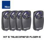 Kit 5 telecomenzi Nice cu 2 butoane FLO2R-S