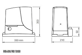 Kit automatizare poarta culisanta 4m, Basic, Nice RB1000MB4