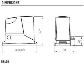 Kit automatizare poarta culisanta 4m, 400 Kg, Nice Robus400 Basic