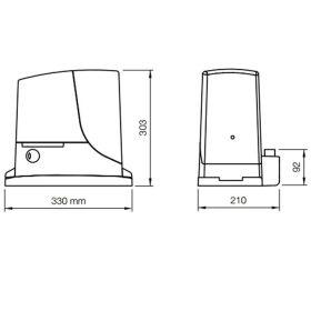 Kit automatizare poarta culisanta, 4m, 1000kg, Basic, Nice ROX1000MB4
