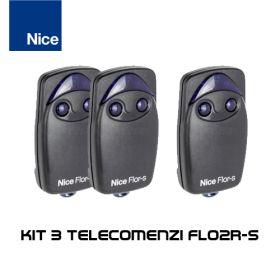 Kit 3 telecomenzi Nice cu 2 butoane FLO2R-S