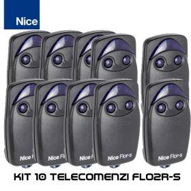 Kit 10 telecomenzi Nice cu 2 butoane FLO2R-S