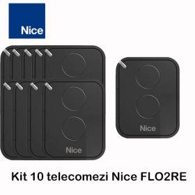 Kit 10 telecomenzi Nice cu 2 canale Era Flor, FLO2RE