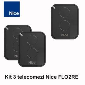Kit 3 telecomenzi Nice cu 2 canale Era Flor, FLO2RE