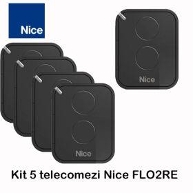 Kit 5 telecomenzi Nice cu 2 canale Era Flor, FLO2RE